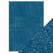 Tonic - Glitterkartonki, Cobalt Blue, A4, 5 arkkia