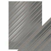Tonic - Foiled Kraft Card, Silver Strokes  A4, 5 arkkia