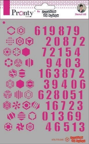 Pronty Crafts - Pattern Numbers, A5, Sapluuna