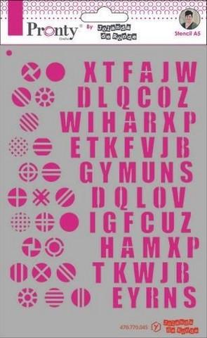 Pronty Crafts - Pattern Alfabets, A5, Sapluuna