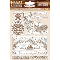 Stamperia - Natural Rubber Stamp, Winter Time, Leimasetti