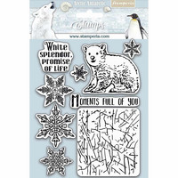 Stamperia - Natural Rubber Stamp, Arctic Antarctic Moments Full of You, Leimasetti