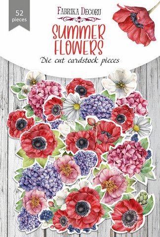 Fabrika Decoru - Leikekuvat, Summer Flowers, 52 osaa