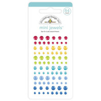 Doodlebug - Adhesive Mini Jewels, 84 osaa, Bar-B-Cute Assortment