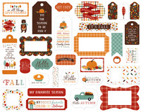 Echo Park - Happy Fall Frames & Tags, Leikekuvia, 33 kpl