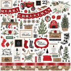 Carta Bella - Farmhouse Christmas, Element Sticker 12