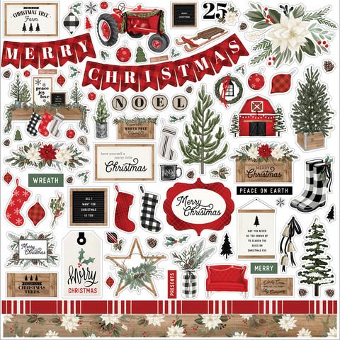 Carta Bella - Farmhouse Christmas, Element Sticker 12