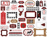 Echo Park - A Lumberjack Christmas Frames & Tags, Leikekuvia, 33 kpl