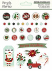 Simple Stories - Jingle All The Way, Decorative Brads, 33 osaa