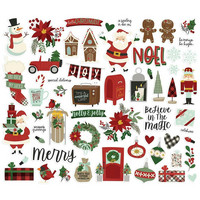 Simple Stories - Jingle All the Way Bits & Pieces Die-Cuts, 57 osaa