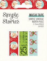 Simple Stories - Simple Vintage North Pole, Washi Tape, 3 rullaa