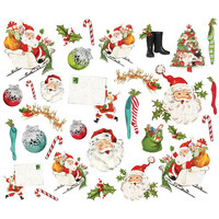 Simple Stories - Simple Vintage North Pole, Santa Bits & Pieces Die-Cuts, 31 osaa