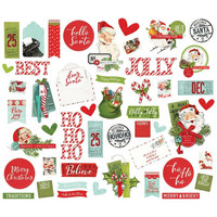 Simple Stories - Simple Vintage North Pole, Bits & Pieces Die-Cuts, 47 osaa