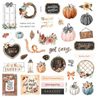 Prima Marketing - Pumpkin & Spice, Cardstock Ephemera, 39 osaa, Floral