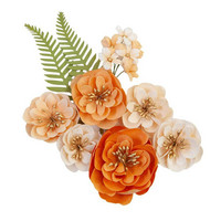 Prima Marketing - Pumpkin & Spice Mulberry Flowers, Together