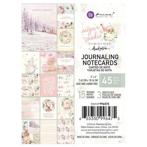 Prima Marketing - Sugar Cookie By Frank Garcia, Journaling Notecards, 3