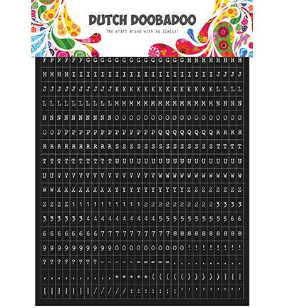 Dutch Doobadoo - Sticker Art Tekst, Tarra-arkki