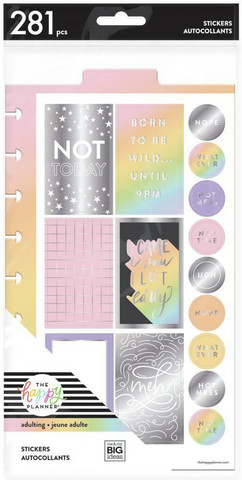 MAMBI - Happy Planner, Dashboard Stickers - Not Today, Tarrasetti, 14arkkia