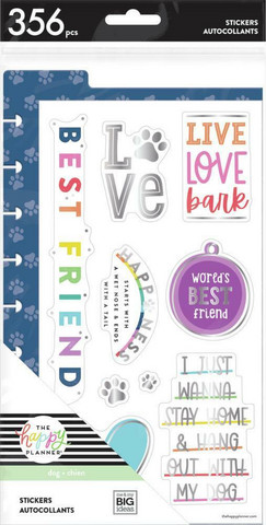 MAMBI - Happy Planner, Dashboard Stickers - Love Bark, Tarrasetti, 14arkkia