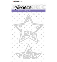 Studio Light - Stanssisetti, Embossing Die Cut Layered Favourites nr.296