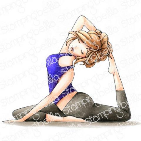 Stamping Bella - Yoga Mochi Girl, Leima