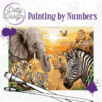 Dotty Design - Paint By Numbers 40x50cm, Safari