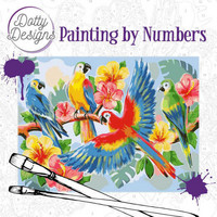Dotty Design - Paint By Numbers 40x50cm, Parrots