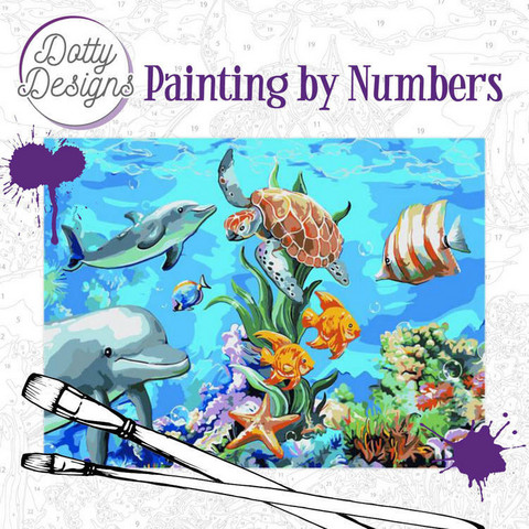 Dotty Design - Paint By Numbers 40x50cm, Underwater World