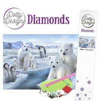 Dotty Designs - Polar Bears (K)(P), Timanttimaalaus, 30x42cm