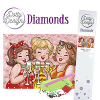 Dotty Designs - Bubbly Girls - Cheers (K)(P), Timanttimaalaus, 30x42cm