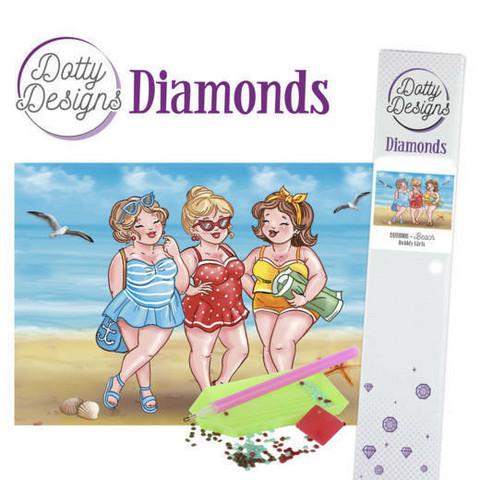 Dotty Designs - Bubbly Girls - Beach (K)(P), Timanttimaalaus, 30x42cm