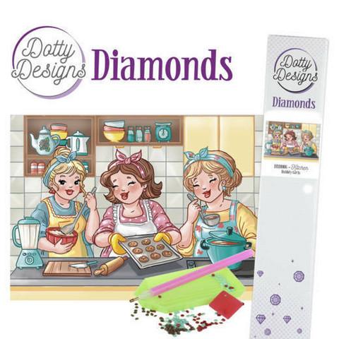 Dotty Designs - Bubbly Girls - Kitchen (K)(P), Timanttimaalaus, 30x42cm