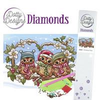 Dotty Designs - Christmas Owls (K)(P), Timanttimaalaus, 30x42cm