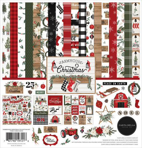 Carta Bella - Farmhouse Christmas, Collection Kit 12