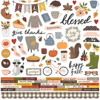 Simple Stories - Cozy Days Cardstock Stickers 12