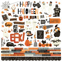 Simple Stories - Boo Crew Cardstock Stickers 12