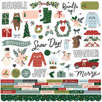 Simple Stories - Winter Cottage Cardstock Stickers 12