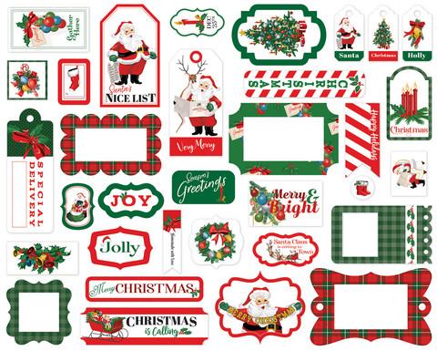 Carta Bella - Dear Santa Frames & Tags, Leikekuvia, 33 kpl