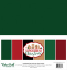 Echo Park - A Gingerbread Christmas, Solids Kit 12