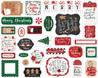 Echo Park - A Gingerbread Christmas Ephemera, Leikekuvia, 33 kpl