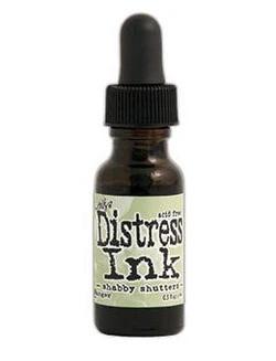 Tim Holtz - Distress Ink, Täyttöpullo, Shabby Shutters