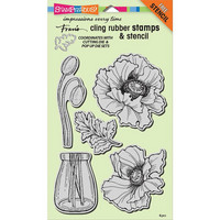 Stampendous - Pretty Poppies, Leimasetti