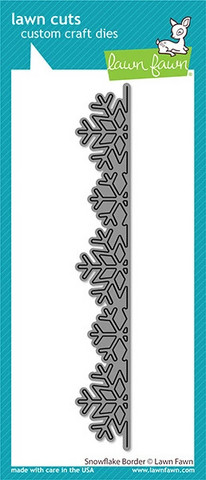 Lawn Fawn - Snowflake Border, Stanssi