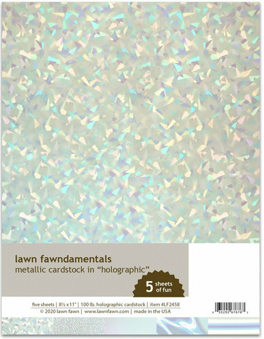 Lawn Fawn - Metallic Cardstock Holographic 8,5