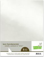 Lawn Fawn - Metallic Cardstock Silver 8,5
