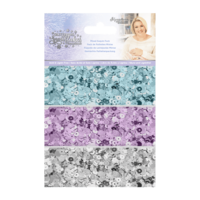 Crafter`s Companion - Sara Signature Collection Glittering Snowflakes, Paljettisetti, Sequin Pack