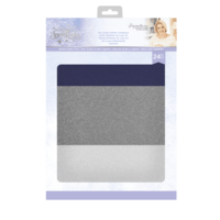 Crafter`s Companion - Sara Signature Collection Glittering Snowflakes, Glitter Card, A4, 24arkkia