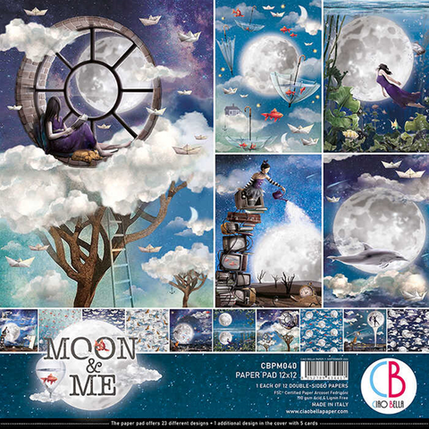 Ciao Bella - Moon & Me, Double-Sided Paper Pad 12