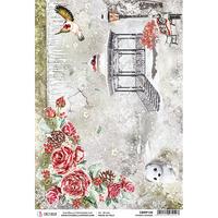 Ciao Bella - Frozen Garden, Rice Paper A4
