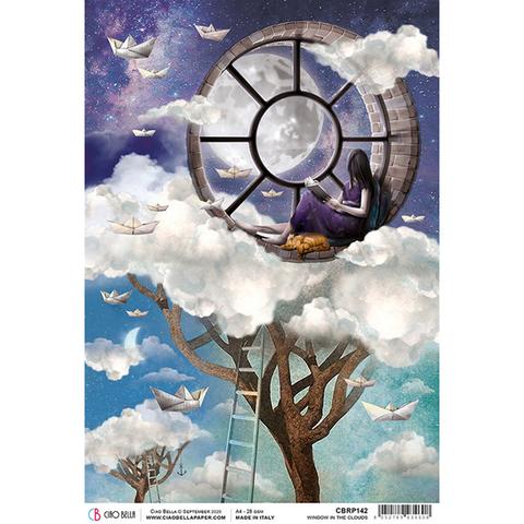 Ciao Bella - Window in the Clouds, Rice Paper A4